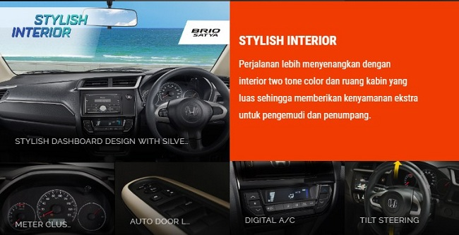 Interior All New Honda Brio