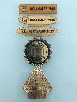 Penghargaan Sales Honda Terbaik Tangerang & Jabodetabek
